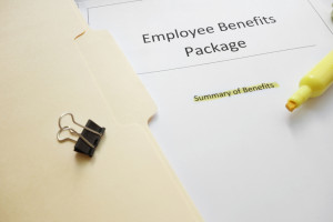 Image of employee benefits folder