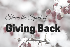 image of sharing the spirit of giving back