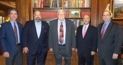 From L to R: Keith Pearson, Clint Bruce, Honorable Robert S. Driegert, David Donabedian, Stephen Konstans