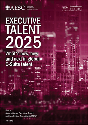 image of PDF of executive talent 2025 white paper